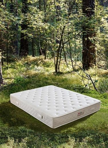 Hibboux Botanic Pocket Yaylı Yatak 120x200 Cm Beyaz